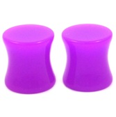 "Purple Acrylic Double Flared Ear Plugs (8g-1"")"