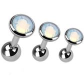 Set of 3 White Opalite Top Cartilage Barbells