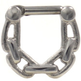 Steel Chain Link Septum Clicker 16G/14G