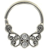 Ornate Butterfly Septum Cartilage Hoop 16G