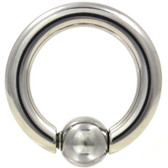 Steel Spring Action Captive Bead Ring (CBR) 8g-00g