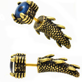 Dragons Claw, Tail & Eye Gold-Tone Fake Tapers