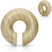 "Organic Crocodile Wood Hoop Plugs (0g-5/8"")"