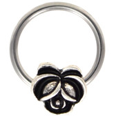 Antique-Style Flower Steel CBR Hoop 16G 3/8""