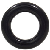 PAIR - All Black Acrylic Segment Ring Hoop 8G-0G