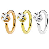 Star CZ Gem Bendable Cartilage Hoop Earring 16G
