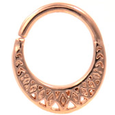 Bendable Royal Tribal Rose Gold-Tone Septum Ring