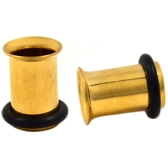 7mm (1G) Gold-Tone Steel Single Flared Tunnels