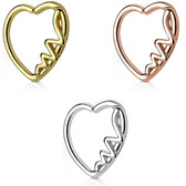Heartbeat & Heart Cartilage Daith Earring (Left Ear)