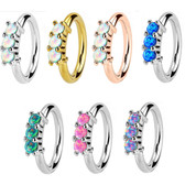 3 Synthetic Opal Bendable Nose/Cartilage Hoop