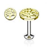 Tree of Life Gold-Tone IP Labret Monroe