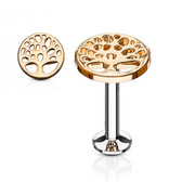 Tree of Life Rose Gold-Tone IP Labret Monroe
