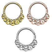 Annealed Circle Design Fan Septum Cartilage Hoop 16G