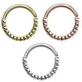 Annealed Groovy Design Septum Cartilage Hoop 16G