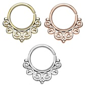 Annealed Vintage Filigree Septum Cartilage Hoop 16G