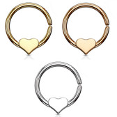 Annealed Removable Heart Cut Ring Hoop - 18G/16G