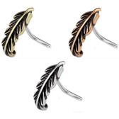 Feather Design Nose Crawler Nose Ring Stud 20G