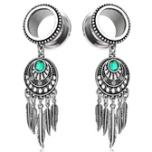 Tribal Dreamcatcher w/Feathers Dangle Tunnels