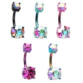 Prong Set Brilliant Double Sparkle Belly Ring