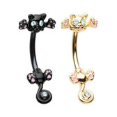 Crazy Kitty Steel Belly Ring