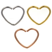 Heart Shaped Bendable Cartilage Hoop Earring 18G
