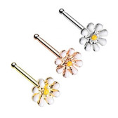 3-Pack Set Dainty Daisy Nose Ring Studs 20G