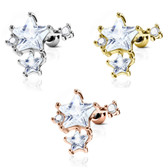 CZ Star Cluster Steel Cartilage Tragus Stud