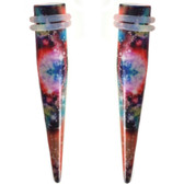"Multi-Color Galaxy Acrylic Tapers (6g-1/2"")"