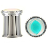 "Iridescent Dome Top Double Flared Steel Plugs (2g-5/8"")"