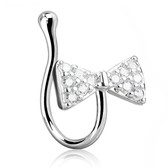 CZ Paved Bow Tie Nose Ring Clip (Non-Piercing)
