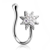 Starburst Design Nose Ring Clip (Non-Piercing)