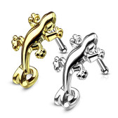 Gecko Nose Crawler Nose Ring Stud 20G