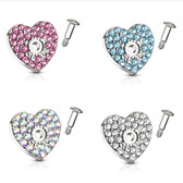 Sparkle Heart Steel Dermal Anchor Top Jacket/Pin