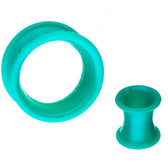 "Teal Silicone Double Flared Tunnels (2g-5/8"")"