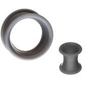 "Grey Silicone Double Flared Tunnels (2g-5/8"")"