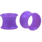 "Purple Silicone Double Flared Tunnels (2g-5/8"")"