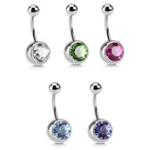 5-Color Set Big Bling Belly Rings