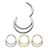 Double Hoop Hinged Segment Ring Hoop 18G