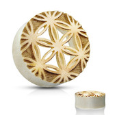 "Flower of Life Cut Crocodile Wood Tunnels (1/2""-1"")"
