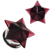 "Purple Glass Faceted Star Plugs (2g-5/8"")"