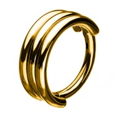 Triple Stack Goldtone Hinged Segment Ring  Hoop