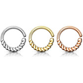 Half Circle Braided Bendable Cartilage/Septum Hoop