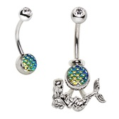 Hanging Mermaid 2-in-1 Belly Ring