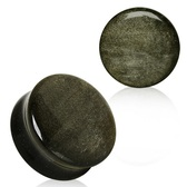 "Golden Obsidian Stone Convex Plugs (4g-1"")"