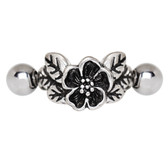 Hibiscus Flower Cartilage Piercing Cuff 16G