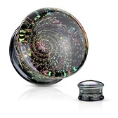 "Sparkle Galaxy Swirl Glass Plugs (0g-5/8"")"