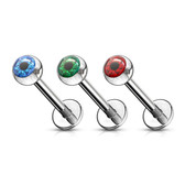 Eyeball Ball Top Steel Labret Monroe Bar 16G