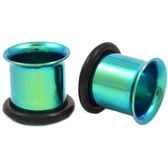 Green Titanium Single Flared Ear Tunnels (10g-00g)