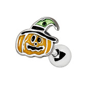 Witches Hat Pumpkin Steel Cartilage Tragus Stud
