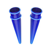 Large Gauge Blue Acrylic Tapers (11mm-25mm)